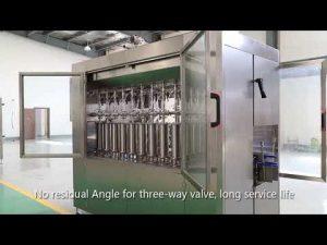 automatik pistoni xhami shishe vaji i lëngshëm mbushje mbushje etiketë linjë makine